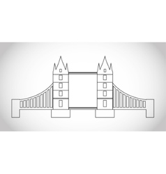 Isolated london bridge design vector