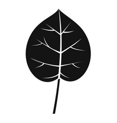 Linden leaf icon simple style vector