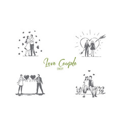 love couple - loving romantic couple walking vector image