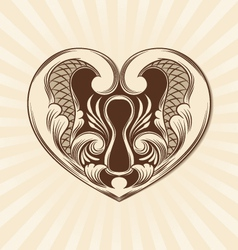 Love Ornamental vector image