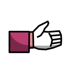 Man hand gesture line icon vector