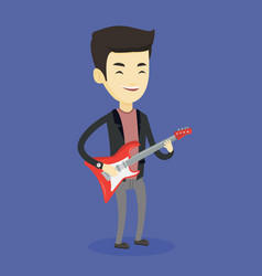 man playing electric guitar vector image