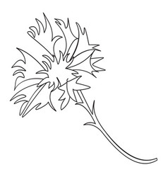 monochrome icon with a field flower vector image