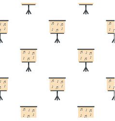 music stand with piano notes pattern seamless vector image