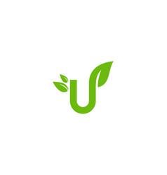 nature letter u logo icon design vector image