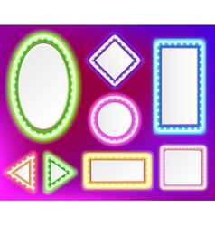 Neon frame for text vector