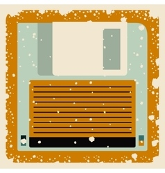 Old floppy poster isolated icon design vector