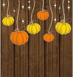 Orange and yellow pumpkins vector