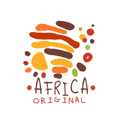 Original abstract african logo with doodle vector