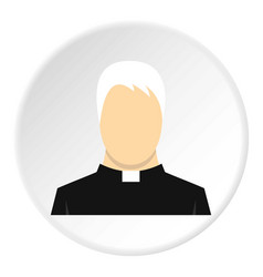 Priest icon circle vector