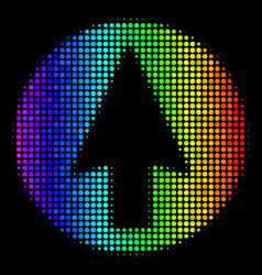 rainbow colored pixel rounded arrow icon vector image