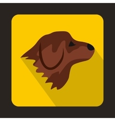 Retriever dog icon flat style vector image