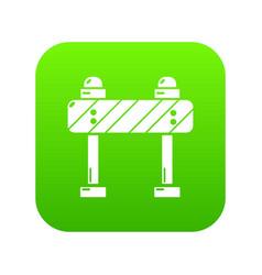 road block icon green vector image