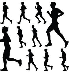 Runner silhouette run vector