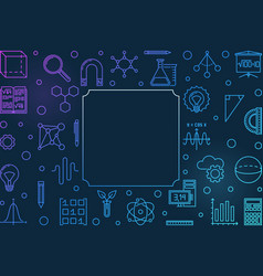 Science technology engineering and math creative vector