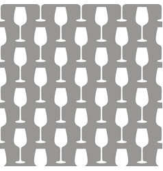 seamless art abstract background with wine glasses vector image