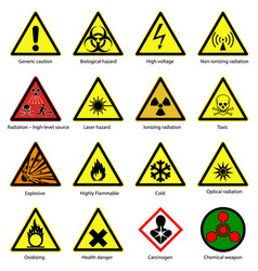 Set of hazard symbols vector