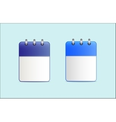 Set of the calendar is blue in two variants vector
