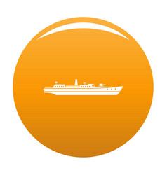 Ship combat icon orange vector