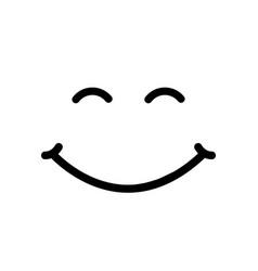 Smile font background vector