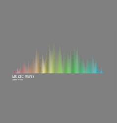 Sound wave equalizer modern on grey vector