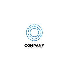 Technology letter o - logo vector
