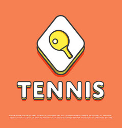 tennis sport icon with ping pong paddle vector image