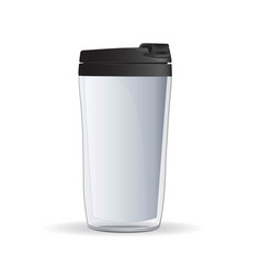 the vacuum cup with black lid vector image