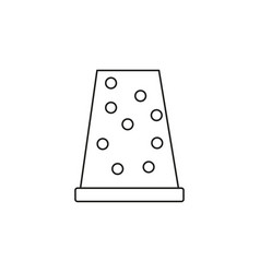 thimble icon vector image