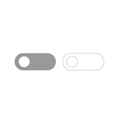 Toggle switch grey set icon vector