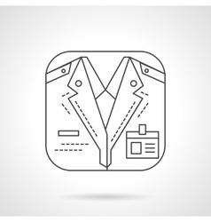 Train conductor icon flat line design icon vector image