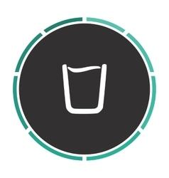 water glass computer symbol vector image