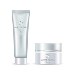 white pearl cream day advert vector image