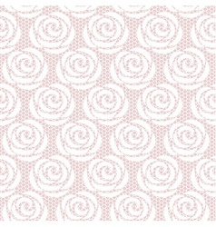 White roses seamless lace pattern vector image