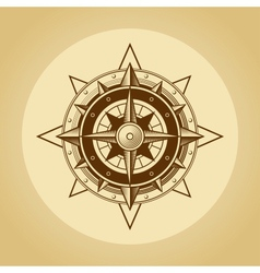 Wind rose in old retro style vector