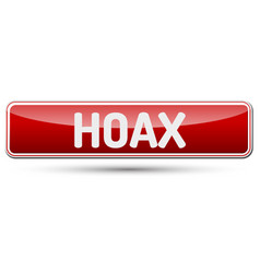 hoax - abstract beautiful button with text vector image