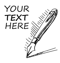 Ink pen with sample text vector image vector image