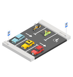 parking lot isometric composition vector image vector image