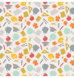School seamless pattern with education icons and vector image