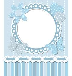 Scrapbook blue frame vector image vector image