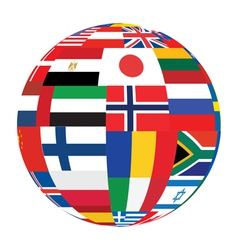 sphere with flags vector image vector image