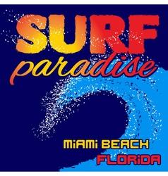 t-shirt surf paradise vector image