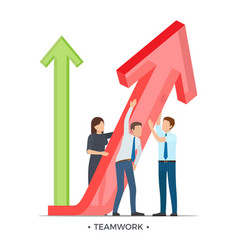 teamwork and growth on white vector image vector image
