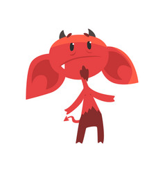 upset devil character with big drooping ears vector image vector image