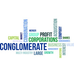 word cloud conglomerate vector image