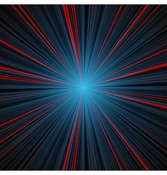 Abstract blue and red stripes burst background vector image vector image