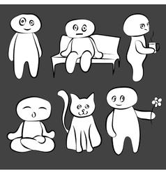 Doodle man is cute vector image vector image