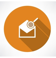 Email icon and magnifying glass vector image vector image