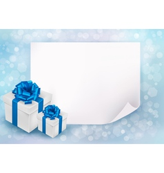 Holiday background with sheet of paper vector image
