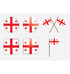 badges with flag of Georgia vector image vector image